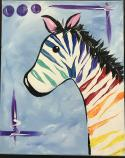 The image for Kids Zebra! 11x14 Canvas Board