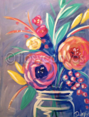The image for Jar of Flowers-Choose your colors. $25 Monday!