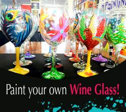 The image for Paint Your Wineglasses Wednesday!