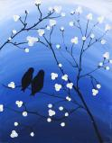 The image for $25 Monday Madness! Blue birds on a branch!