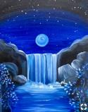 The image for Waterfall In The Blue Moon Light