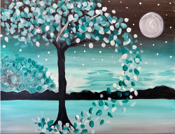 The image for Moonlit Tree! Pick your own color!