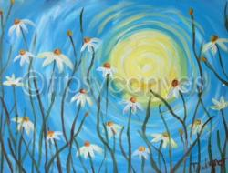 The image for $20 Kids' Summer Daisies 11x14