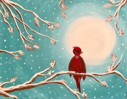 The image for Winter Cardinal ~ Two colors to choose from. Great for date night!