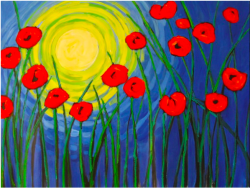 The image for Van Gogh's Poppies in the Moonlight!