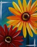 The image for Fall Colored Gerber Daisies
