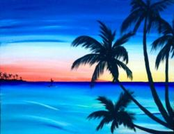 The image for Beautiful Beach Sunset!