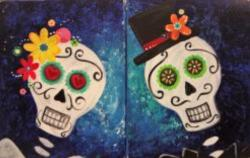 The image for Candy Skulls – paint one or both