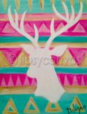 The image for Designer White Deer - Pick your favorite background colors!