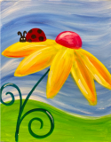 The image for Cute Ladybug and Flower!
