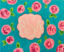 The image for Floral Monogram! Customizable!