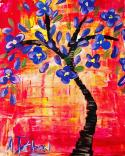 The image for Beautiful Art Deco Flowering Tree