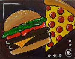 The image for Kid's Burger and Pizza - Choose your colors!!!